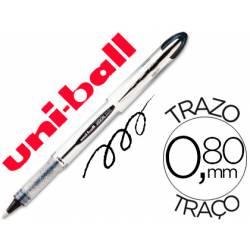 Rotulador-bolígrafo roller Uni-Ball negro UB-200 trazo 0,6 mm.