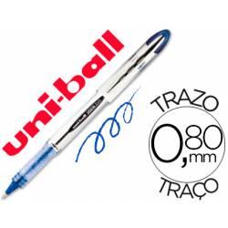 Rotulador-bolígrafo roller Uni-Ball azul UB-200 trazo 0,6 mm.