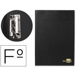 Portanotas plastico con miniclip lateral Liderpapel negro