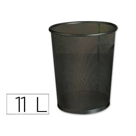 Papelera metalica rejilla Q-Connect de 11 L