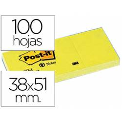 Bloc quita y pon Post-it ® 38x51mm pack de 3 blocs