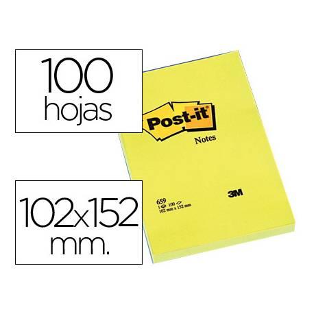 Post-it ® Bloc de notas adhesivas color amarillo quita y pon lisas
