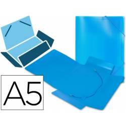 Carpeta lomo flexible gomas con solapas Liderpapel Din A5 color azul