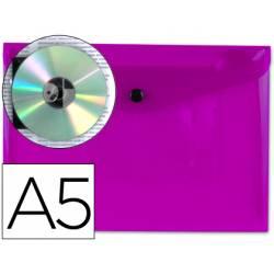 Carpeta sobre Liderpapel cierre broche violeta Din A5