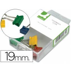 Pinza metalica reversible marca Q-Connect colores surtidos