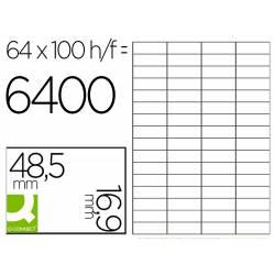 ETIQUETA ADHESIVA Q-CONNECT KF11207 TAMAÑO 48,5X16,9 MM FOTOCOPIADORA LASER INK-JET CAJA CON 100 HOJAS DIN A4