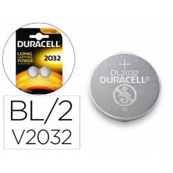 Pila alcalina boton Duracell CR2032 Blister 2 unidades