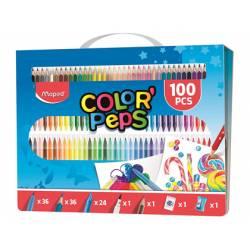 Set de pintura estuche Color Peps Maped Kit 100 piezas surtidas