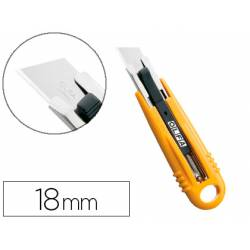 Cuter plastico Olfa cuchilla 18 mm retractil para zurdos