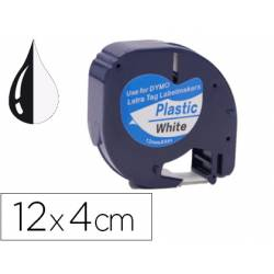 Cinta Letratag Negro/Blanco Q-connect 12mm x 4mt