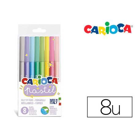 Rotulador Carioca Pastel Pack 8 Colores surtidos