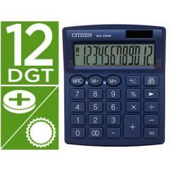 Calculadora sobremesa Citizen Modelo SDC-812 NRNVE Eco 12 digitos Azul