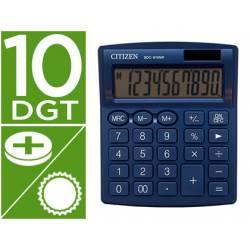 Calculadora sobremesa Citizen Modelo SDC-810 NRGNE 10 dígitos Azul