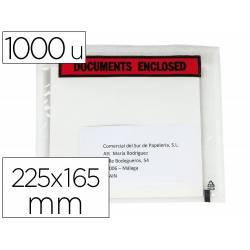 SOBRE AUTOADHESIVO Q-CONNECT PORTADOCUMENTOS MULTILINGUE 225X165 MM SIN VENTANA PAQUETE DE 1000 UNIDADES