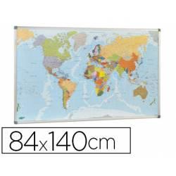 Mapa mural del mundo planisferio magnetico marca Faibo