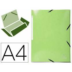 Carpeta de gomas Exacompta Din A4 Color Verde Anís