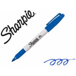 Rotulador Sharpie Permanente Color Azul Punta fina Caja 12 unidades
