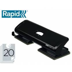 Taladrador Rapid FC20/4 negro capacidad para 20 hojas