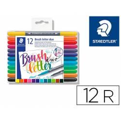 Rotulador Staedtler 3004 Doble Punta Hand Lettering Estuche de 12 colores