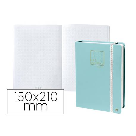Libreta Quo Vadis Life Journal Infinite Dots 150x210 mm 224 hojas Puntos Tapa Similpiel Verde