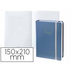 Libreta Quo Vadis Life Journal Infinite Dots 150x210 mm Puntos Tapa Similpiel Azul
