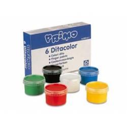 Pintura de dedos Primo 250 gr 6 colores surtidos