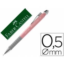 Portaminas Faber Castell Apollo Retractil de 0,5 mm color Rosa claro
