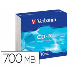 CD-ROM VERBATIM Capacidad 700MB 80 min 52x