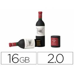 Memoria Flash USB de Technotech 16 GB Botella de Vino