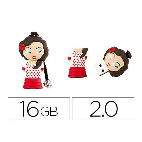 Memoria Flash USB de Technotech 16 GB Flamenca Sevillana