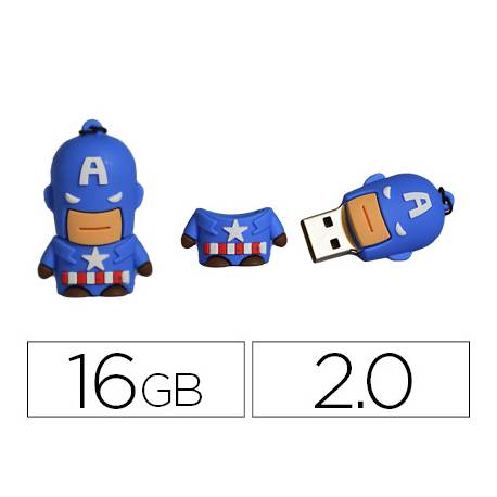 Memoria Flash USB de Technotech 16 GB Capitan America