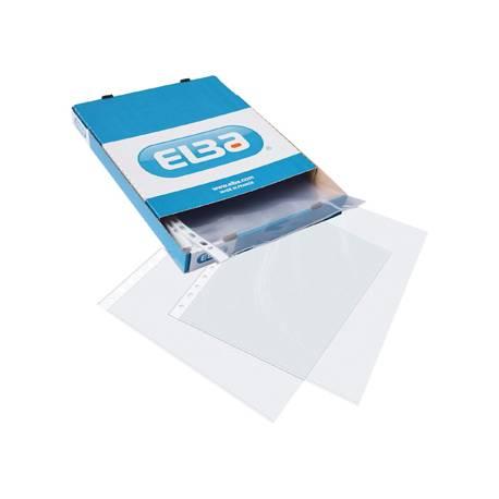 Funda multitaladro de Elba transparente folio rugoso caja 100 unidades