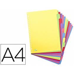 Separador alfabetico Elba cartulina DIN A4 23 taladros en colores surtidos