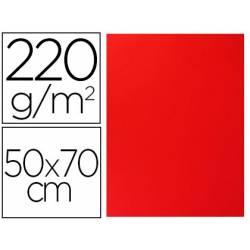 Cartulina Lisa y Rugosa Liderpapel Rojo 50x70 cm 220 gr
