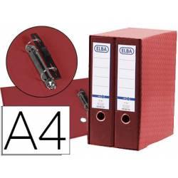 Modulo con 2 archivadores de palanca Elba color rojo