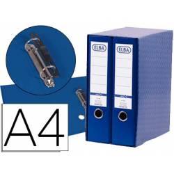 Modulo con 2 archivadores de palanca Elba color azul