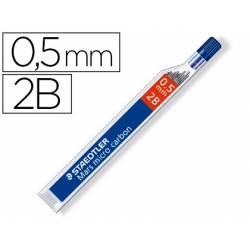Minas Staedtler Mars Micro 0,5 mm 2B grafito Tubo con 12 unidades