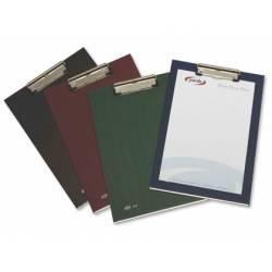 Portanotas plastico folio con pinza superior Pardo verde