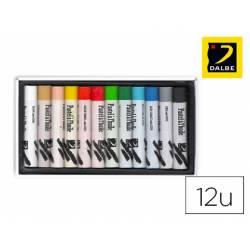 Lápices Pastel Óleo Dalbe Caja de 12 Colores Surtidos