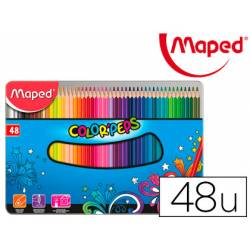 Lapices de colores Maped Color Peps Caja Metalica de 48 lapices