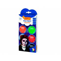 Crema maquillaje para la cara Jovi Halloween Colores surtidos Pack de 6 botes + accesorios