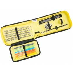 Plumier Sambro Minions Cremallera 15 piezas Color Amarillo
