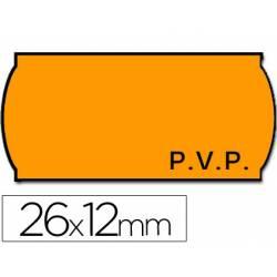 Rollo Etiquetas adhesivas Meto Precios color naranja 26 x 12