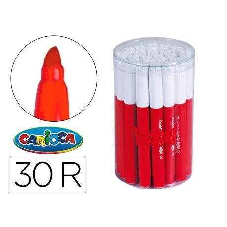 Rotulador Carioca Jumbo grueso caja 30 rotuladores rojos