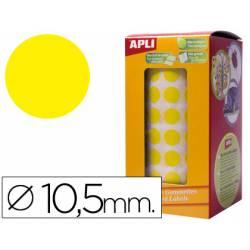 Gomets Apli circulares color amarillo 10,5mm