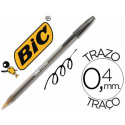 Boligrafo Bic Cristal color negro 0,4 mm
