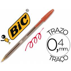 Boligrafo Bic Cristal color rojo 0,4 mm
