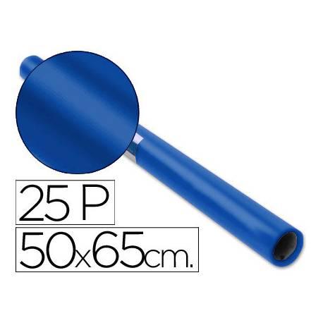 Papel charol marca Sadipal rollo azul cobalto 25 hojas