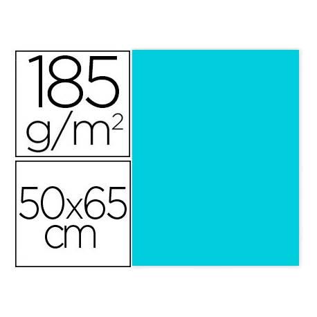 Cartulina Gvarro color Azul Caribe 50x65 cm 185 gr