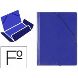 Carpeta Saro gomas solapas carton folio color azul. Ref 314 saro